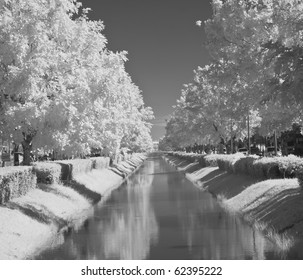 infrared water-distribution canal