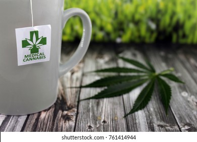 Infusion of cannabis in ceramic cup for my ailments
