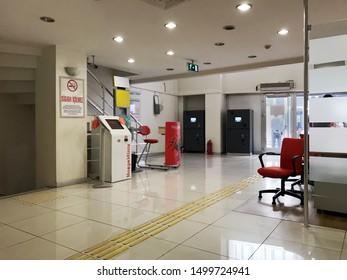 Ing Bank Besiktas branch.interior view, September 6, 2019 in Istanbul, Turkey.
