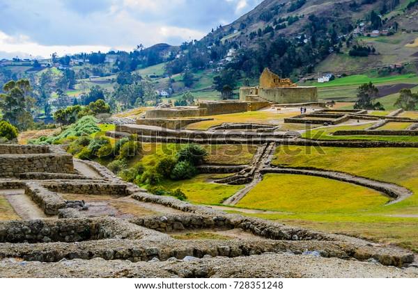 Ingapirca inka ruins in Ecuador