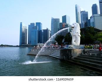 INGAPORE - July 30 2018 : Marina bay in Singapore