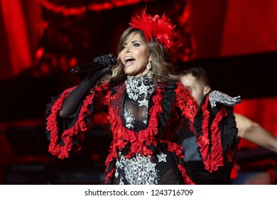 "INGLEWOOD, CA. November 17th, 2018. ""Las que Mandan"" concert were some of the most iconic names in Latin music were present including Gloria Trevi, Thalia, Paulina Rubio, Yuridia, Paquita del Barrio,"