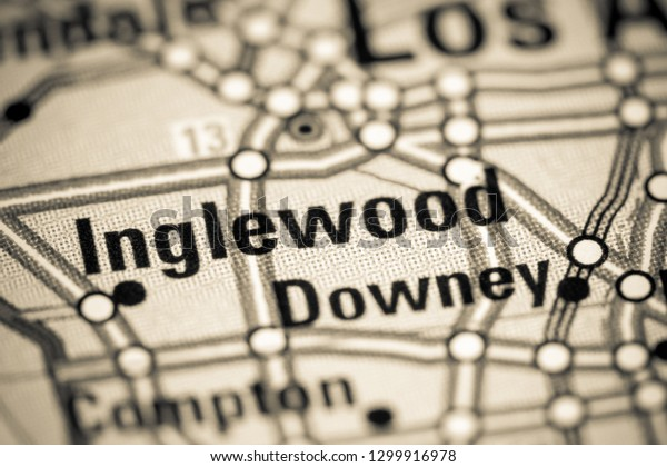 Inglewood California Usa On Map Stock Photo (Edit Now ...