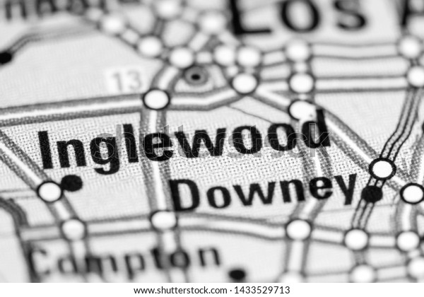 Inglewood California Usa On Map Stock Image | Download Now