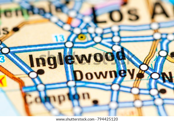 Inglewood California Usa On Map Stock Photo (Edit Now) 794425120