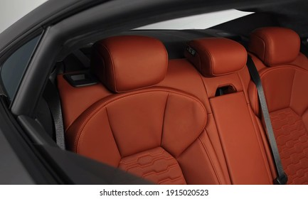 Ingolstadt, 12. February 2021: Audi RS E-Tron GT - Luxurious, Comfortable And Modern Car Interior. Ideal Concept For Power, Performance, Automobile And Technology.