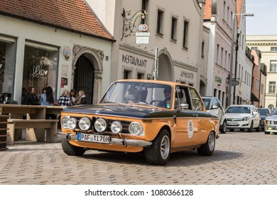 INGOLSTADT - GERMANY, APRIL 28: BMW car from 1968 at 2018 Audi Regio Sprint on April 28, 2018