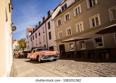 INGOLSTADT - GERMANY, APRIL 28: Cadillac De Ville from 1958 at 2018 Audi Regio Sprint on April 28, 2018