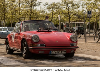 INGOLSTADT - GERMANY, APRIL 28: Porsche 911 Targa from 1969 at 2018 Audi Regio Sprint on April 28, 2018