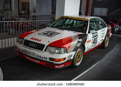 Ingolstadt, Germany - April 9, 2019: 1990s Audi sport car