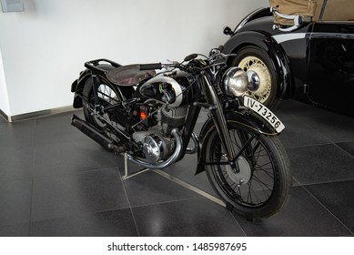 Ingolstadt, Germany - April 9, 2019: DKW NZ 350 1930s German classic retro old motorcycle
