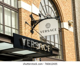INGOLSTADT, GERMANY-AUG 19: fashion store on AUGUST 19,2017 in Frankfurt, Germany.Versace, is an Italian luxury fashion company and trade name founded by Gianni Versace.