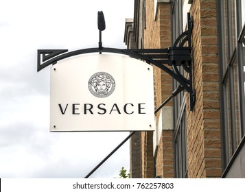INGOLSTADT, GERMANY-AUG 19: fashion store on AUGUST 19,2017 in Frankfurt, Germany. Versace, is an Italian luxury fashion company and trade name founded by Gianni Versace.