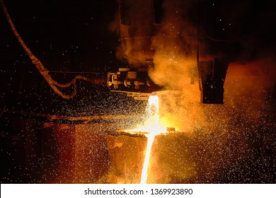 Сasting ingots in Foundry Shop, Metallurgical production