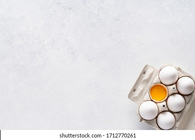 Ingredients for baking and Breakfast on a gray background. Concept: delicious and healthy food.