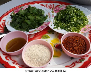 ingredients chillies pepermint