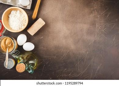 Ingredients for cooking pie or cookies