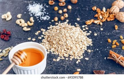 Ingredients for delicious and healthy eko granola
