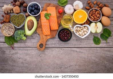 Concepto de alimentacion sana y saludable