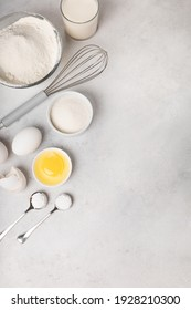 Ingredients for making pancakes for Shrovetide