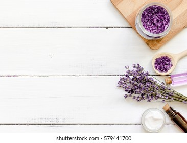 ingredients for manufacture of natural cosmetics with lavender t