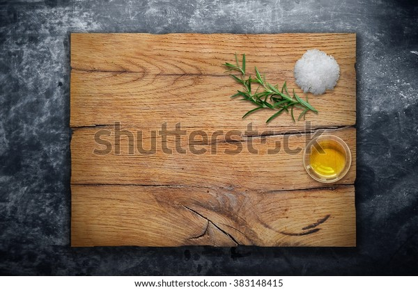 ingredients on wooden cutting board