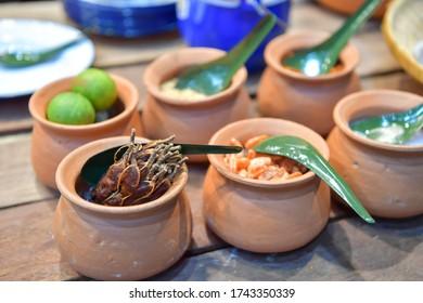 Ingredients of Pad Thai, traditional Thai food.