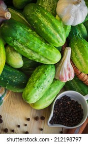 The ingredients for the preparation of pickled cucumbers