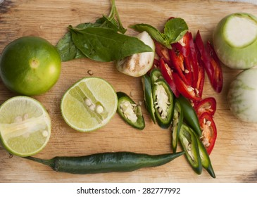 Ingredients for Thai spicy curry.