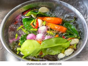 ingredients of TomYam spicy soup