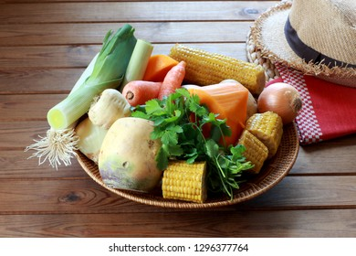Ingredients for traditional Colombian Soup