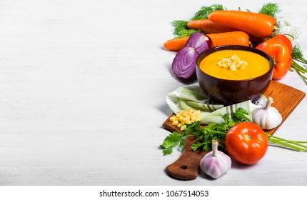 ingredients of vegetable soup