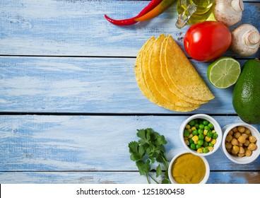 ingredients for vegetable tacos