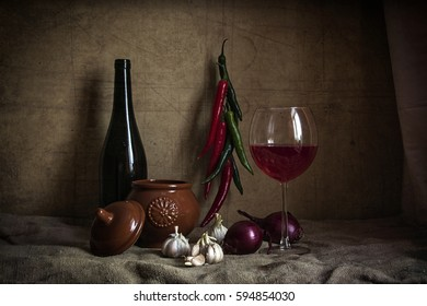 Ingredients with wine