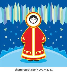 The inhabitant of the North in national dress