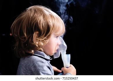Inhalation child infant under one year
