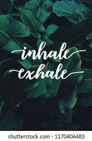 inhale exhale yoga spiritual quote peace