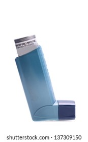 inhaler isolated over white with all branding removed