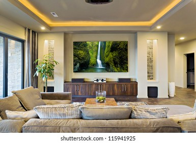 In-Home Theater in Luxury Home