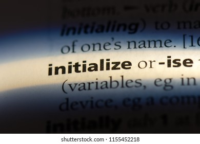initialize word in a dictionary. initialize concept.