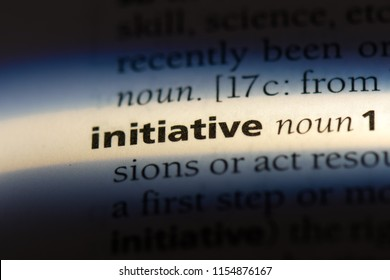 initiative word in a dictionary. initiative concept.