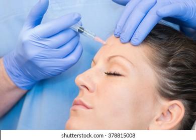 Injecting botulinum toxin