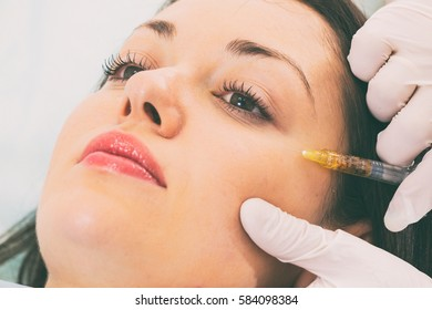 Injections in the face