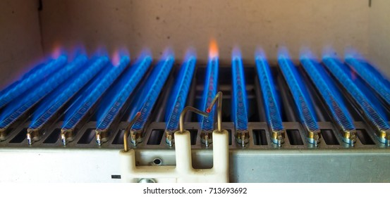 Injector burner, blue fuel, gas boiler
