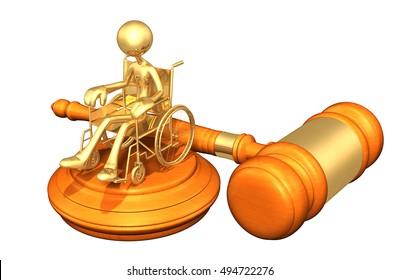 Injury Legal Gavel Concept 3D Illustration