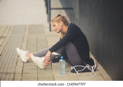 Injury is often in sport.   Young women.