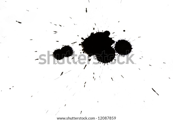 ink blot isolated on white background