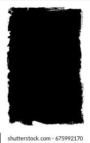 Ink brush frame texture (inverted)
