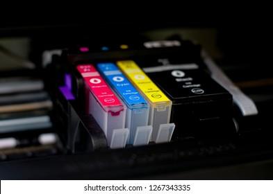 ink cartridges cyan yellow magenta black