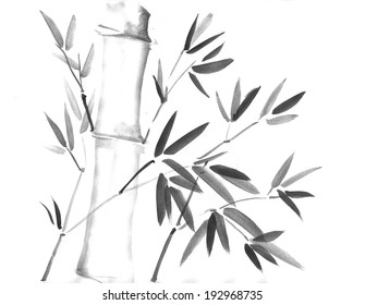 Ink Painting of Bamboo